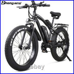 New 26 ebike Electric 1000w 48v Fat tire Bicycle Mountain ebike Moped Adults