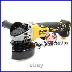 New Dewalt DCG413B 20V Max XR 4-1/2 Brushless Paddle Switch Angle Grinder