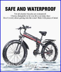 New Electric 1000W bike Fat tire Folding suvs Mountain ebike 40km/h Adult Moped