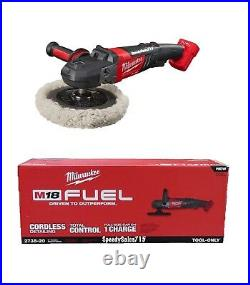New Milwaukee 2738-20 M18 FUEL 7 in. Variable Speed Polisher (Tool Only)
