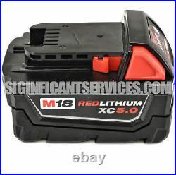 New Milwaukee 2853-20 M18 18-Volt 1/4 Hex 5.0 Ah Lithium-Ion Impact Driver Kit