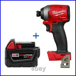 New Milwaukee 2853-20 M18 1/4 Impact Driver with 48-11-1850 5Ah Battery