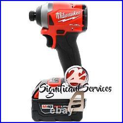 New Milwaukee 2853-20 M18 FUEL Next Gen Impact Driver 1/4 in. Hex 5.0 Ah Battery