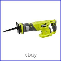 New RYOBI P1818 18V One+ Lithium-Ion 4-Tool Drill Saw Kit, 2 Batteries & Charger