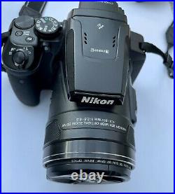 Nikon COOLPIX P900 16.0MP Digital Camera Black Boxed, 3 batteries & Ext charger