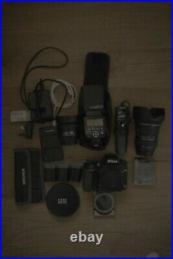 Nikon D750 24.3mp DSLR Camera bundle lenses batteries flash