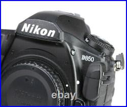 Nikon D850 FX DSLR Professional Camera Body Only + Nikon Charger & Battery