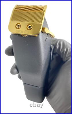 REAL 24K GOLD and Black Andis Master Cordless Lithium Ion Clipper #12470