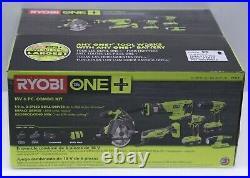 RYOBI 18-Volt ONE+ Lithium-Ion Cordless 6-Tool Combo Kit Brand NEW Sealed
