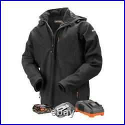 Ridgid Men's 18-Volt Lithium-Ion Cordless Heated Jacket with Battery (Large)