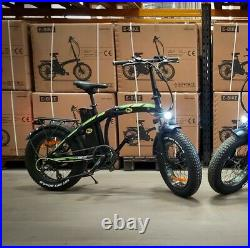 Roadhog FatBike EBike Electric Bicycle Folding 250W Fat Tyre Fast Assembly UK