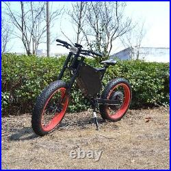Stealth Bomber Electric Mountain EBike 72v 5000w full suspension 50mph MOTO SEAT
