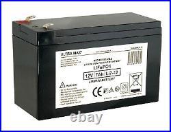 TWO x ULTRAMAX 12V 7Ah LITHIUM ION BAIT BOAT Batteries Waverunner, Viper etc