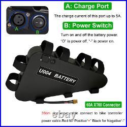 UK SELL 36V 48V 52V 20Ah Triangle Lithium Ion Li-Ion ebike Battery 250W-1800W
