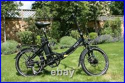 Volt Metro LS folding e-bike in black with step-through frame and minimal useage